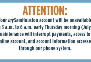 mySamHouston Account Maintenance Overnight