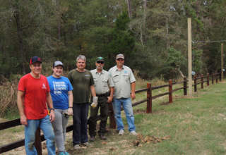 Co-op Helps Construct Archery Range