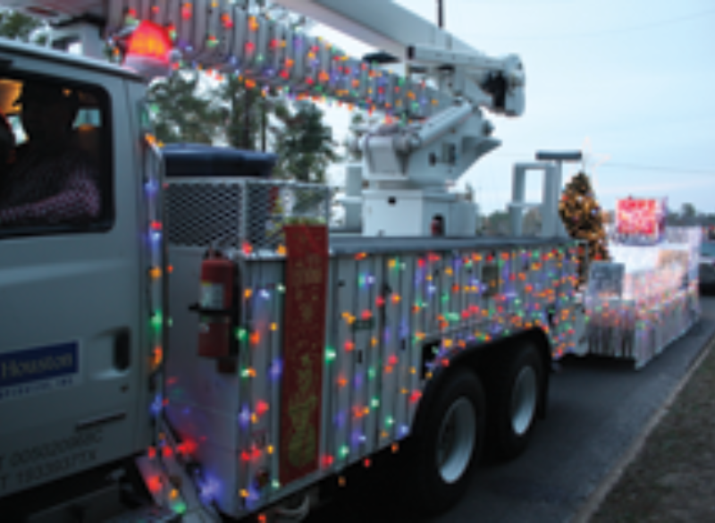 Sam Houston EC Takes Second Place at Hometown Christmas Parade