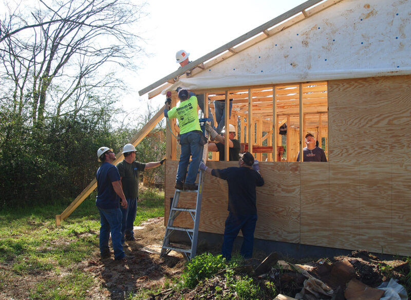 Cooperative Employees Volunteer at Habitat for Humanity