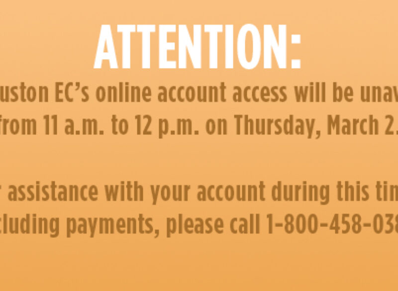 mySamHouston Accounts Unavailable on March 2 from 11 a.m. to 12 p.m.