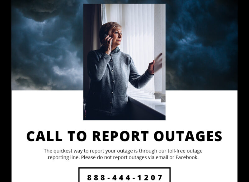 Call to Report Outages