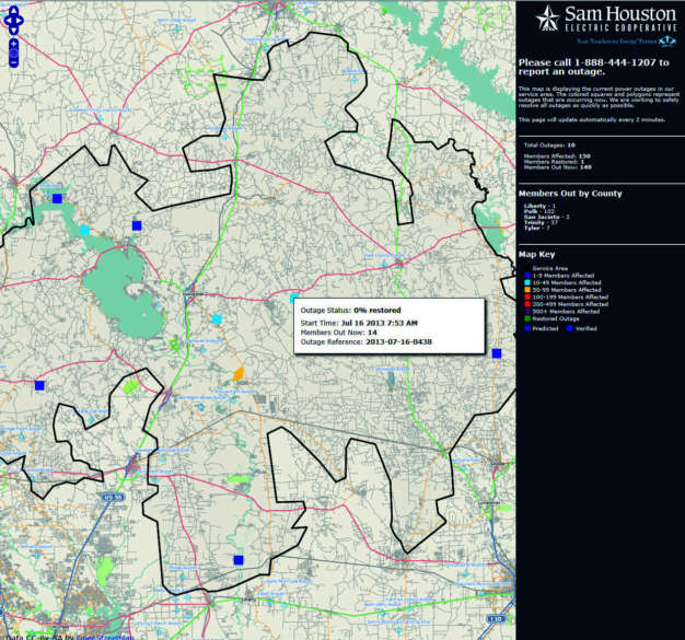 New Outage Viewer Now Available Sam Houston Electric