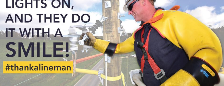 Thank a Lineman on April 11