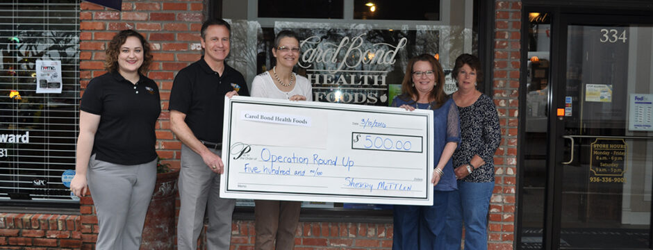 Carol Bond Health Foods Donates to Operation Round Up
