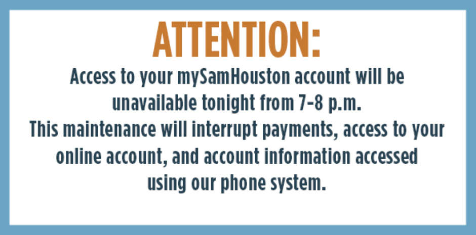 Account Access Unavailable from 7-8 p.m.