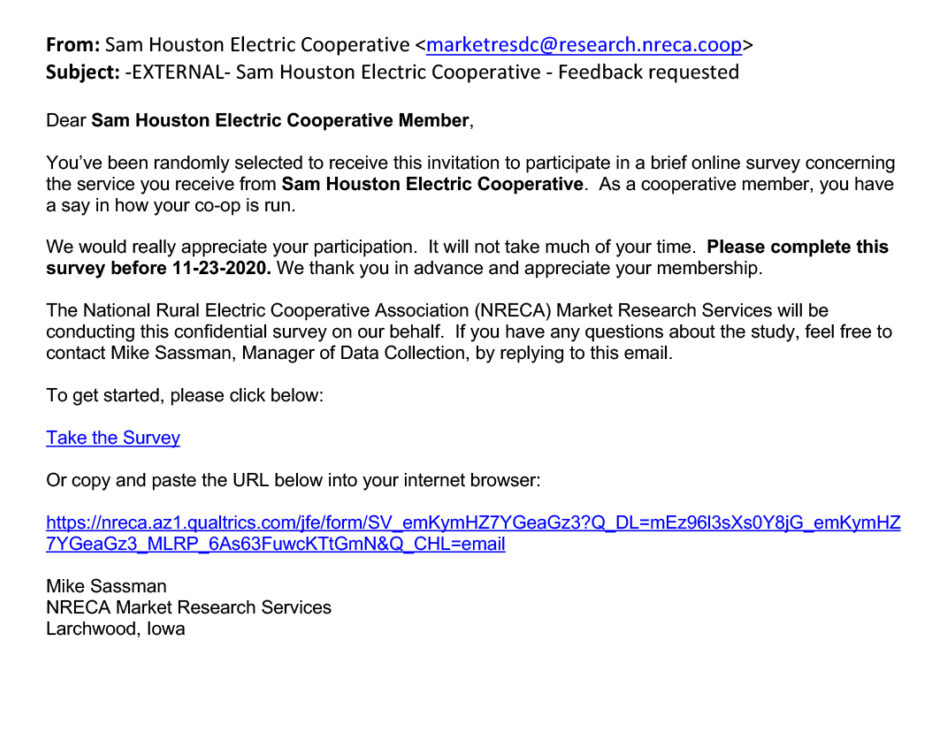 How Does Sam Houston EC Listen to Consumer-Members?
